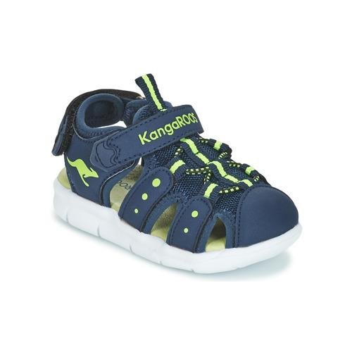 Pantofi Băieți Sandale  Kangaroos K-MINI Albastru / Galben