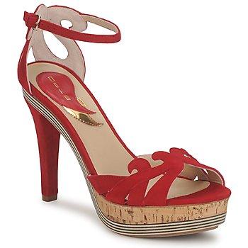 Încăltăminte Femei Sandale și Sandale cu talpă  joasă Etro 3488 Roșu