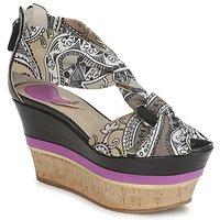 Pantofi Femei Sandale și Sandale cu talpă  joasă Etro 3467 Gri / Negru / Violet