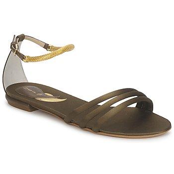 Încăltăminte Femei Sandale și Sandale cu talpă  joasă Etro 3461  militar