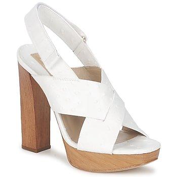 Încăltăminte Femei Sandale și Sandale cu talpă  joasă Michael Kors MK18072 Alb