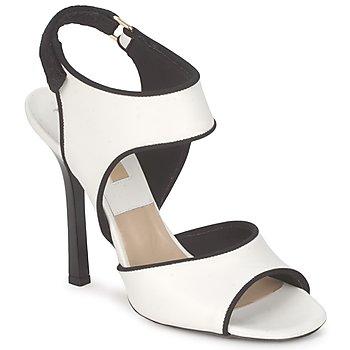 Încăltăminte Femei Sandale și Sandale cu talpă  joasă Michael Kors MK18111 Alb