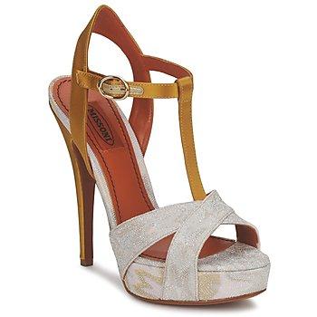 Încăltăminte Femei Sandale și Sandale cu talpă  joasă Missoni TM30 Gold / Silver