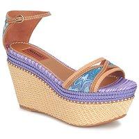 Pantofi Femei Sandale  Missoni TM26 Albastru / Maro