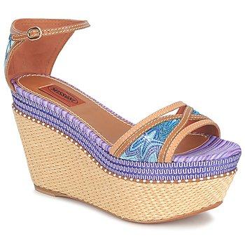 Încăltăminte Femei Sandale și Sandale cu talpă  joasă Missoni TM26 Albastru / Maro