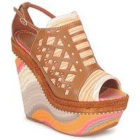 Pantofi Femei Sandale și Sandale cu talpă  joasă Missoni TM22 Maro / Portocaliu
