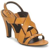 Pantofi Femei Sandale și Sandale cu talpă  joasă Karine Arabian DOLORES Șofran-negru