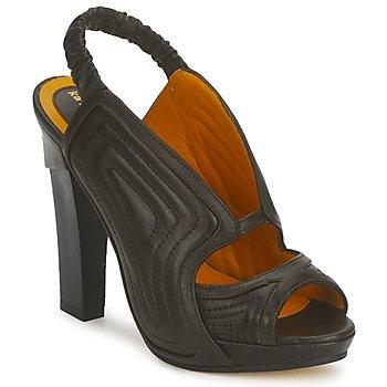 Încăltăminte Femei Sandale și Sandale cu talpă  joasă Karine Arabian ORPHEE Negru