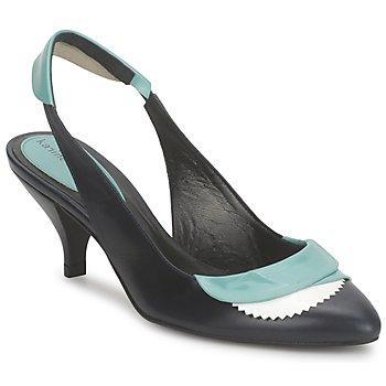 Încăltăminte Femei Sandale și Sandale cu talpă  joasă Karine Arabian LILA Cerneală / Alb / Turcoaz