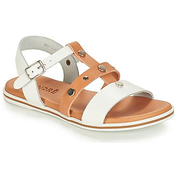 Pantofi Băieți Sandale  André MILAN Alb / Camel