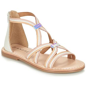 Pantofi Fete Sandale și Sandale cu talpă  joasă André MELODIE Alb