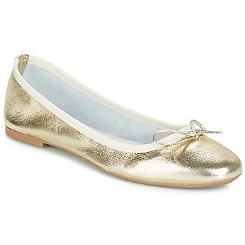 Pantofi Femei Balerin și Balerini cu curea André PIETRA Auriu
