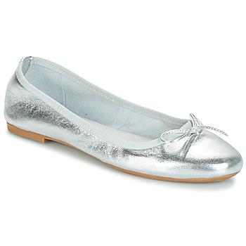 Pantofi Femei Balerin și Balerini cu curea André PIETRA Argintiu