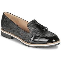 Pantofi Femei Mocasini André EMOTION Argintiu / Negru