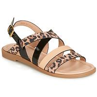 Pantofi Femei Sandale și Sandale cu talpă  joasă André RADJAH Leopard