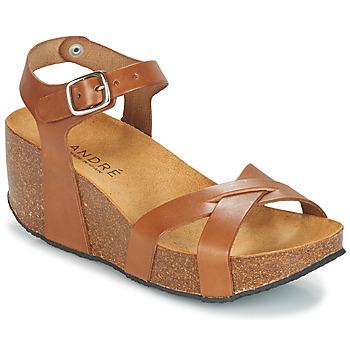Pantofi Femei Sandale și Sandale cu talpă  joasă André HERA Maro
