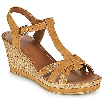 Pantofi Femei Sandale și Sandale cu talpă  joasă André ALOE Camel