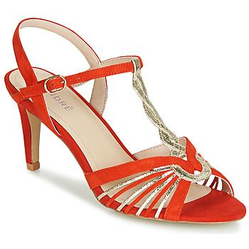Pantofi Femei Sandale și Sandale cu talpă  joasă André CALECHE Roșu