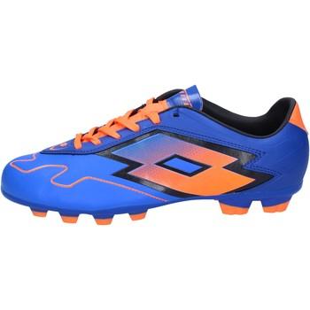 Pantofi Bărbați Fotbal Lotto sneakers da calcio blu pelle arancione BT586 Blu
