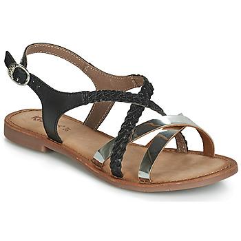 Încăltăminte Femei Sandale și Sandale cu talpă  joasă Kickers ETHY Negru