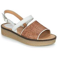 Pantofi Femei Sandale  Kickers VICTORIETTE Maro / Alb