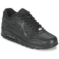Încăltăminte Bărbați Pantofi sport Casual Nike AIR MAX 90 LEATHER Negru