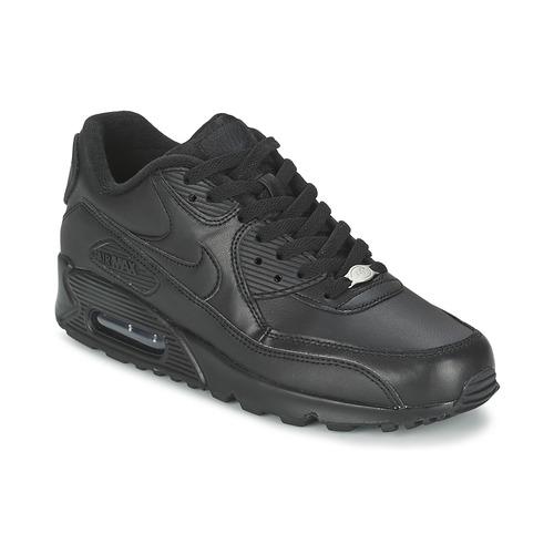 buy popular b14a1 ed523 Pantofi Bărbați Pantofi sport Casual Nike AIR MAX 90 LEATHER Negru