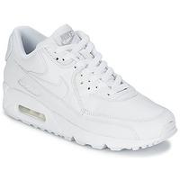 Încăltăminte Bărbați Pantofi sport Casual Nike AIR MAX 90 LEATHER Alb