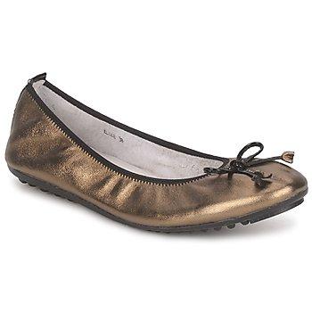 Pantofi Femei Balerin și Balerini cu curea Mac Douglas ELIANE Bronz / Negru / Verni