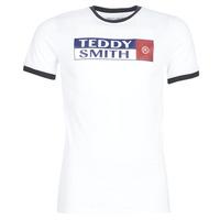 Îmbracaminte Bărbați Tricouri mânecă scurtă Teddy Smith TOZO Alb