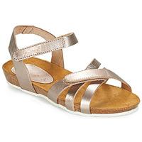 Pantofi Fete Sandale și Sandale cu talpă  joasă Kickers BOGART Bronz / Metal