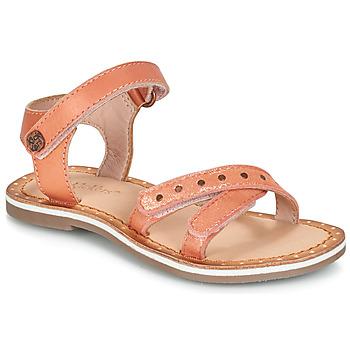 Pantofi Fete Sandale și Sandale cu talpă  joasă Kickers DIDONC Roz / Metal
