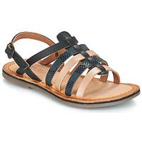 Pantofi Fete Sandale și Sandale cu talpă  joasă Kickers DIXON Negru / șarpe