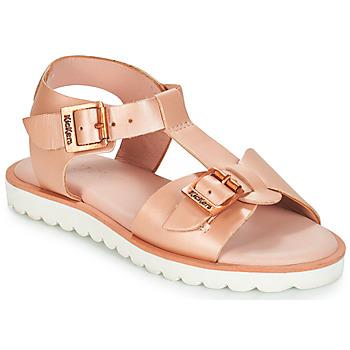 Pantofi Fete Sandale  Kickers ISABELA Roz / Metal