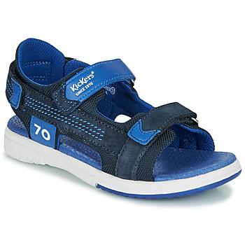 Pantofi Băieți Sandale și Sandale cu talpă  joasă Kickers PLANE Bleumarin