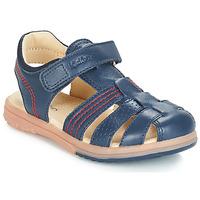 Pantofi Băieți Sandale și Sandale cu talpă  joasă Kickers PLATINIUM Bleumarin