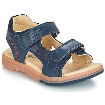 Pantofi Băieți Sandale și Sandale cu talpă  joasă Kickers PLATINO Bleumarin