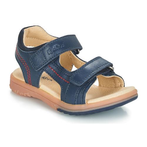 Pantofi Băieți Sandale  Kickers PLATINO Albastru