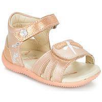 Pantofi Fete Sandale și Sandale cu talpă  joasă Kickers BESHINE Roz / Metal