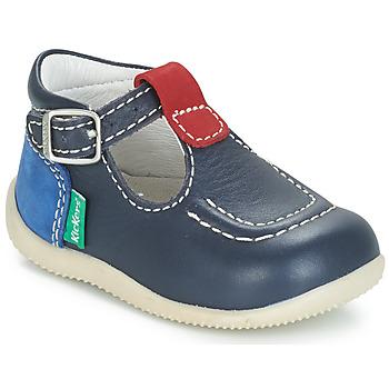 Pantofi Copii Balerin și Balerini cu curea Kickers BONBEK Bleumarin