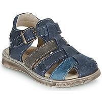 Pantofi Băieți Sandale și Sandale cu talpă  joasă Citrouille et Compagnie ZIDOU Bleumarin / Gri