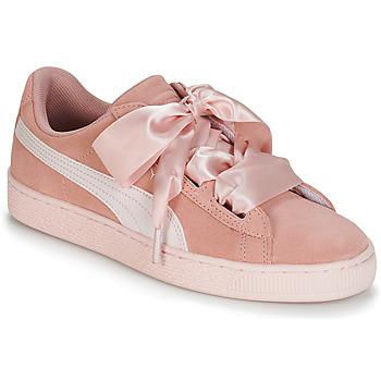 Pantofi Fete Pantofi sport Casual Puma JR SUEDE HEART JEWEL.PEACH Roz
