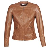 Îmbracaminte Femei Jachete din piele și material sintetic Naf Naf CLIM Coniac