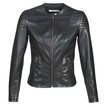 Îmbracaminte Femei Jachete din piele și material sintetic Naf Naf CLIM Negru