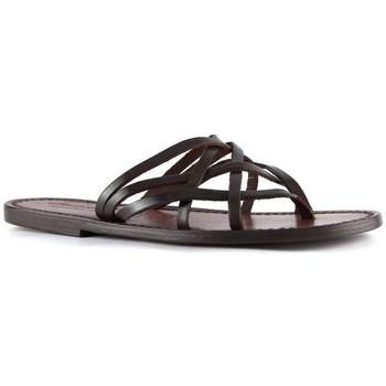Pantofi Femei Sandale  Gianluca - L'artigiano Del Cuoio 543 D MORO CUOIO Testa di Moro