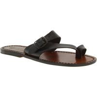 Pantofi Femei Sandale  Gianluca - L'artigiano Del Cuoio 556 D MORO CUOIO Testa di Moro