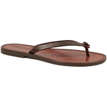 Pantofi Femei  Flip-Flops Gianluca - L'artigiano Del Cuoio 540 D MORO CUOIO Testa di Moro