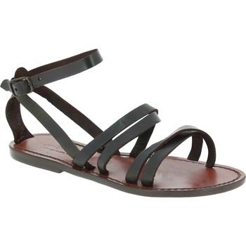 Pantofi Femei Sandale  Gianluca - L'artigiano Del Cuoio 581 D MORO CUOIO Testa di Moro