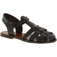 Pantofi Femei Sandale  Gianluca - L'artigiano Del Cuoio 501 D MORO CUOIO Testa di Moro
