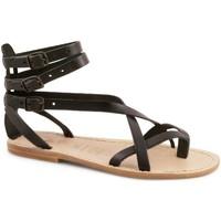Pantofi Femei Sandale  Gianluca - L'artigiano Del Cuoio 564 D NERO LGT-CUOIO nero